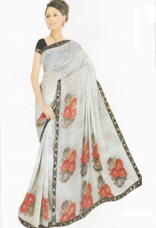 Indian Chundri Silk Saree