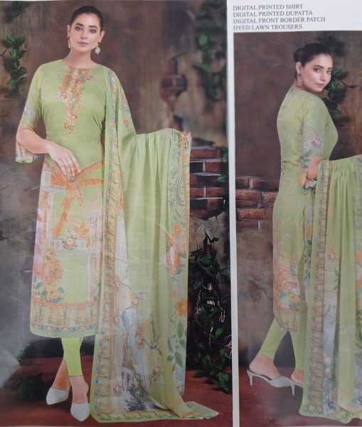 Unstitched 3pc For Women's